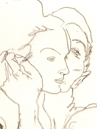 Egon Schiele, _Couple enlacé_, 1917