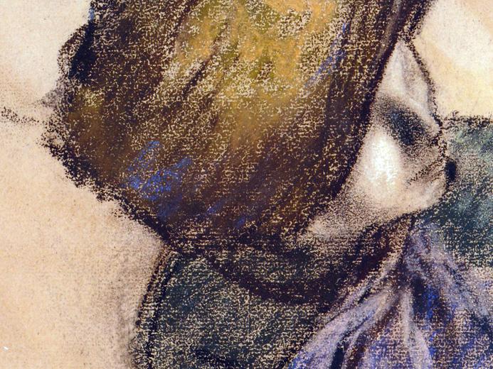 Edgar Degas, _Femme tenant un chapeau_, 1885