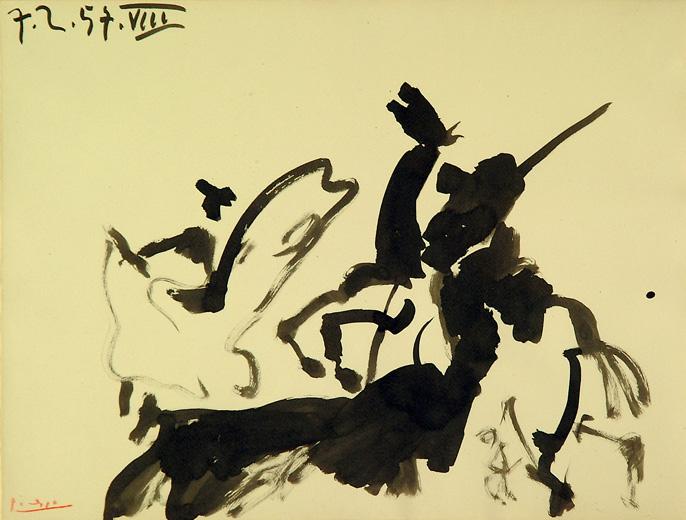 Pablo Picasso, _Scène de Tauromachie_, 1957