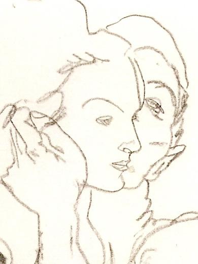 Egon Schiele, _Couple enlacé_, 1917