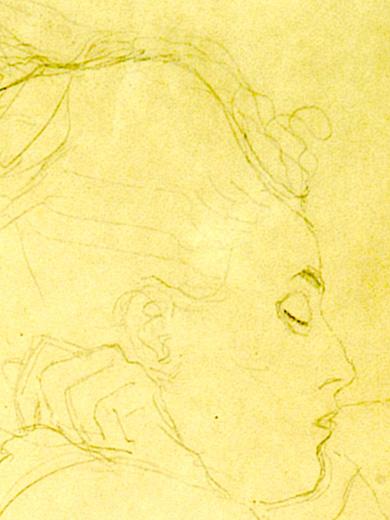 """Gustav Klimt, _Étude pour """"la mariée""""_, 1917"""