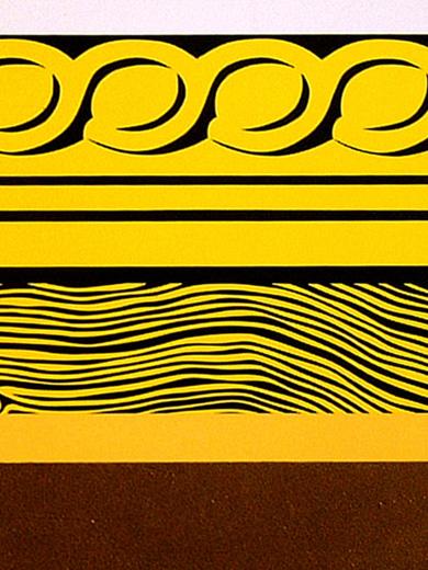 Roy Lichtenstein, _Entablature Painting_, 1974