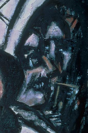 Max Beckmann, _Artistes - café_, 1944
