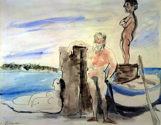 Pablo Picasso, _ Personnages sur la plage_, 1933